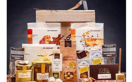 Originální dárková bedna plná čokolády