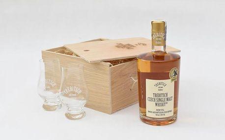 Dárkové balení whisky Trebitsch + 2 skleničky