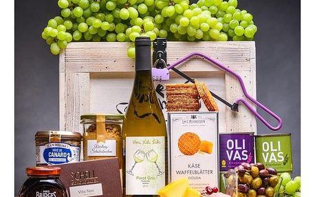 Dámská dárková truhla se suchým bílým vínem