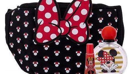 Disney Minnie Mouse dárková kazeta pro děti toaletní voda 50 ml + lesk na rty 6 ml + taška kolem pasu