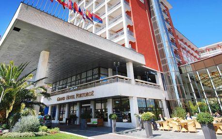 5* Grand Hotel Portorož, hned u moře, se snídaní