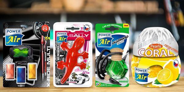 Voňavé osvěžovače do automobilu: 6 druhů setů