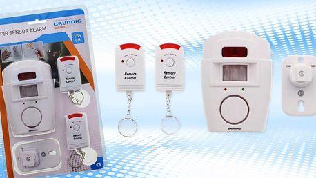 Bezpečnostní alarm se 2 dálkovými ovladači