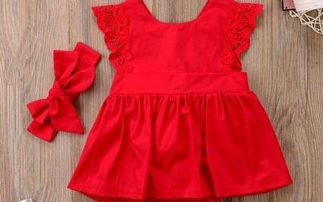 Dívčí šaty s čelenkou Haven