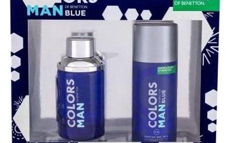 Benetton Colors de Benetton Blue dárková kazeta pro muže toaletní voda 100 ml + deodorant 150 ml