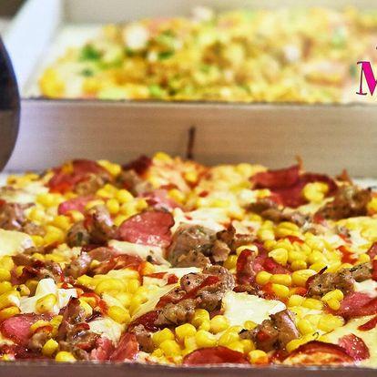 Dvě poctivé Maníkovy pizzy s rozvozem, 15 druhů