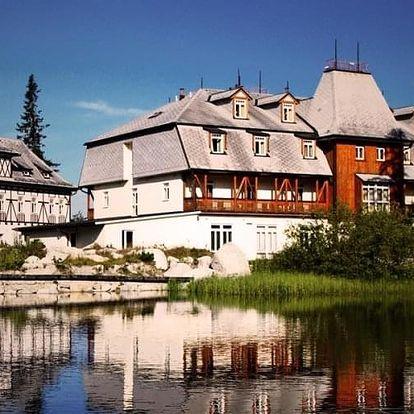 Ubytování v rodinném hotelu přímo na břehu Štrbského plesa, Vysoké Tatry