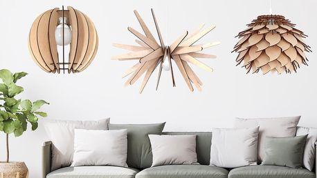 Designové dřevěné lustry vyrobené v ČR: 11 variant