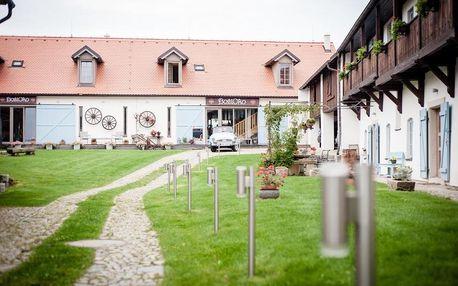 Romantické ubytování na vesnické usedlosti kousek od UNESCO Holašovic