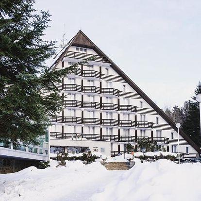 Vizuálně nezaměnitelný Hotel SKI v srdci Vysočiny