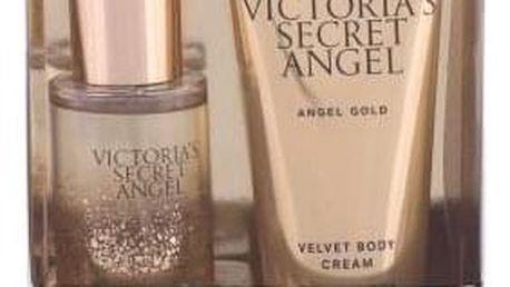 Victoria´s Secret Angel Gold dárková kazeta pro ženy tělový sprej 75 ml + tělový krém 100 ml