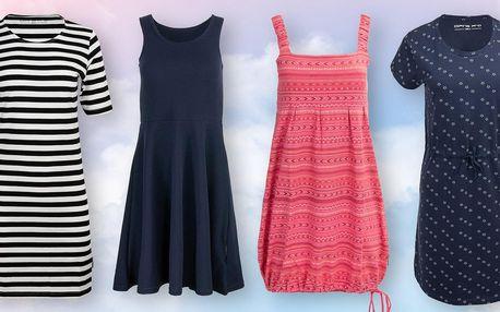 Slušivé dámské šaty Alpine Pro: proužky i květiny