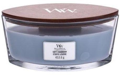 WoodWick Soft Chambray 453,6 g vonná svíčka unisex