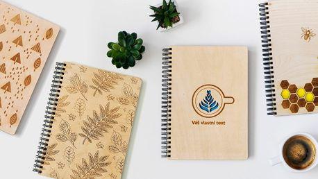 Dřevěný zápisník s vypálením vlastního textu