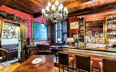 500–2000 Kč na prémiový alkohol v cigar baru