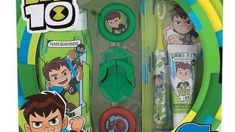 Naturaverde Kids Ben 10 dárková kazeta pro děti sprchový gel Ben 10 250 ml + zubní pasta Ben 10 25 ml + zubní kartáček Ben 10 1 ks + disc-shooter Ben 10