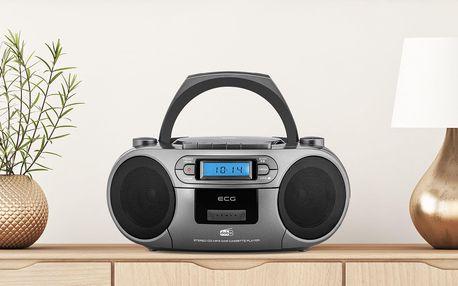 Rádio, kazeťák a CD přehrávač ECG s tunerem DAB +