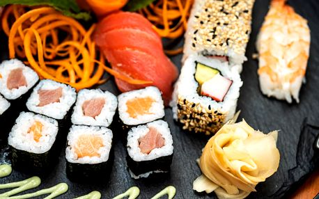 Parádní sushi sety vč. veganské varianty: 18–62 ks