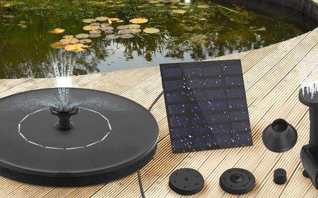 Solární fontány: 4–7 trysek i barevné podsvícení