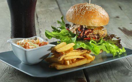 1 či 2 burger menu s sebou i s rozvozem po Hrádku