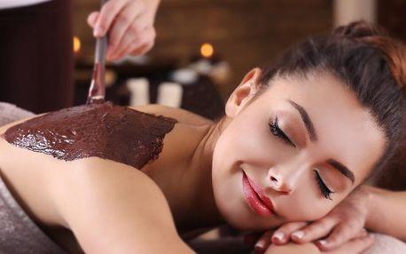 60minutová masáž s čokoládovým či medovým zábalem