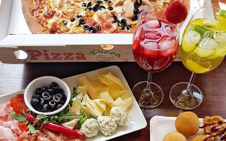 1 či 2 pizzy a drink či limo i celý piknik s sebou
