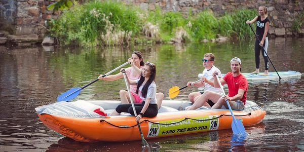Půjčení paddleboardů i raftů na 1–3 dny