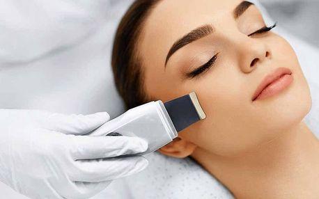 Ultrazvukové čištění pleti s ruční masáží obličeje