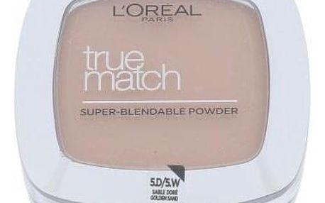 L´Oréal Paris True Match 9 g jemný pudr pro přirozený vzhled pro ženy D5-W5 Golden Sand