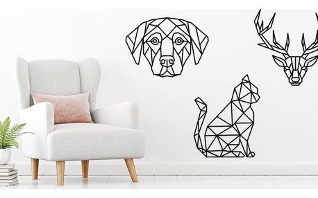 Zvířátka a geometrie: dřevěné dekorace na zeď