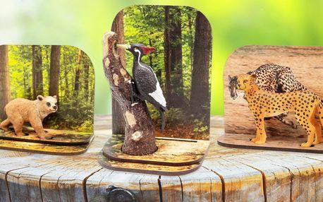 Ručně malovaná diorama zvířátek: 14 druhů
