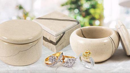 Ručně vyrobené šperkovnice z bračského mramoru