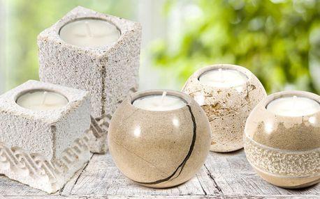 Ruční práce: originální svícny z bračského mramoru