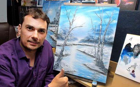 Online kurzy malování olejomalbou a akrylem