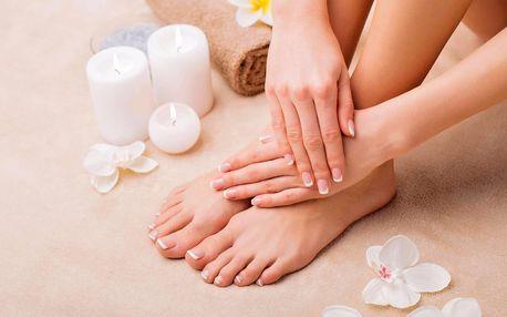 Kompletní péče: mokrá aroma pedikúra a manikúra