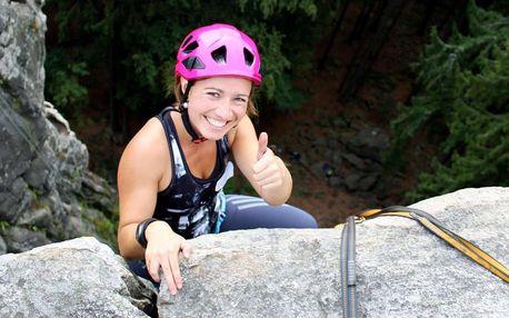 Celodenní kurz lezení na skalách pro 1 či 2 osoby