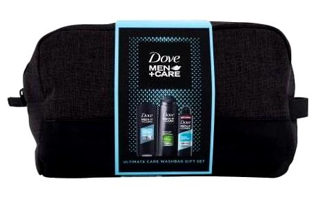 Dove Men + Care Clean Comfort dárková kazeta pro muže sprchový gel Clean Comfort 250 ml + šampon 2in1 Fresh & Clean 400 ml + antiperspirant Clean Comfort 150 ml + kosmetická taška