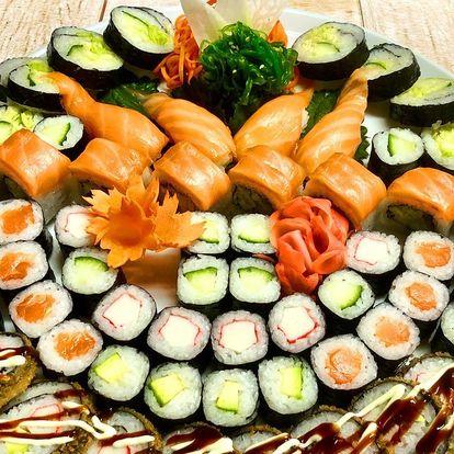 20, 24 či 60 ks sushi: sety s lososem, krabem i vege