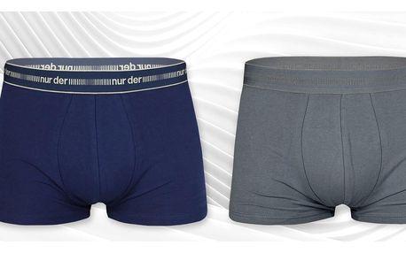 2× bavlněné boxerky s širší gumou: velikost M–XXL