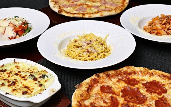 Pizza, těstoviny nebo salát dle výběru pro dva