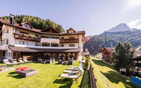 4* Hotel Miravalle v oblasti Selva di Val Gardena s polopenzí