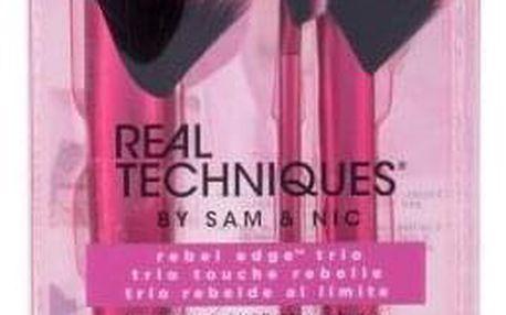 Real Techniques Brushes Rebel Edge™ Trio dárková kazeta pro ženy kosmetický štětec na bronzer 1 ks + kosmetický štětec na rozjasňovač 1 ks + kosmetický štětec na oční stíny 1 ks