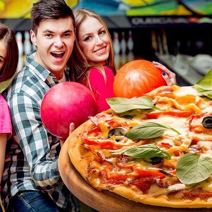 Bowling až pro 8 hráčů a k tomu 1 pizza podle výběru