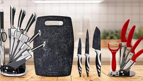 4–8dílná sada nožů i se stojanem, brusič k ostření