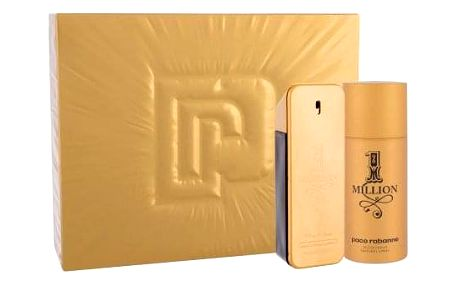 Paco Rabanne 1 Million dárková kazeta pro muže toaletní voda 100 ml + deosprej 150 ml