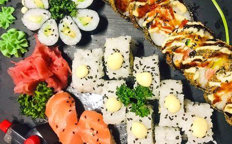 Set 28 kousků sushi s avokádem a lososem