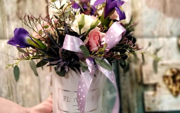 Květinový box s mixem květin (malý)3
