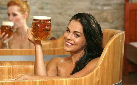 Pivní lázeň s konzumací piva i občerstvením pro dva
