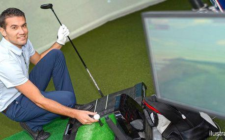 60 minut na golfovém trenažéru pro 1–6 odpalujících