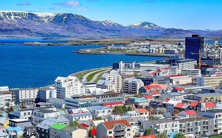 Island - Reykjavik letecky na 1-5 dnů, snídaně v ceně